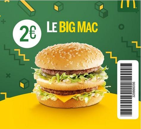 1 Hamburger Big Mac - Paris Saint Lazare (75)