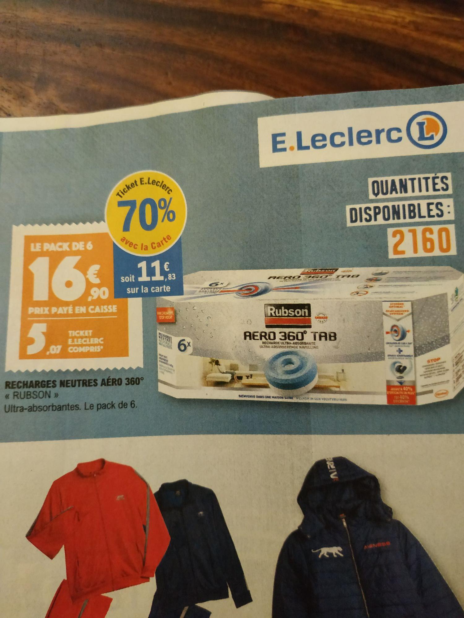 Lot de 6 recharges neutre Aero 360° (via 11.83€ sur la carte)