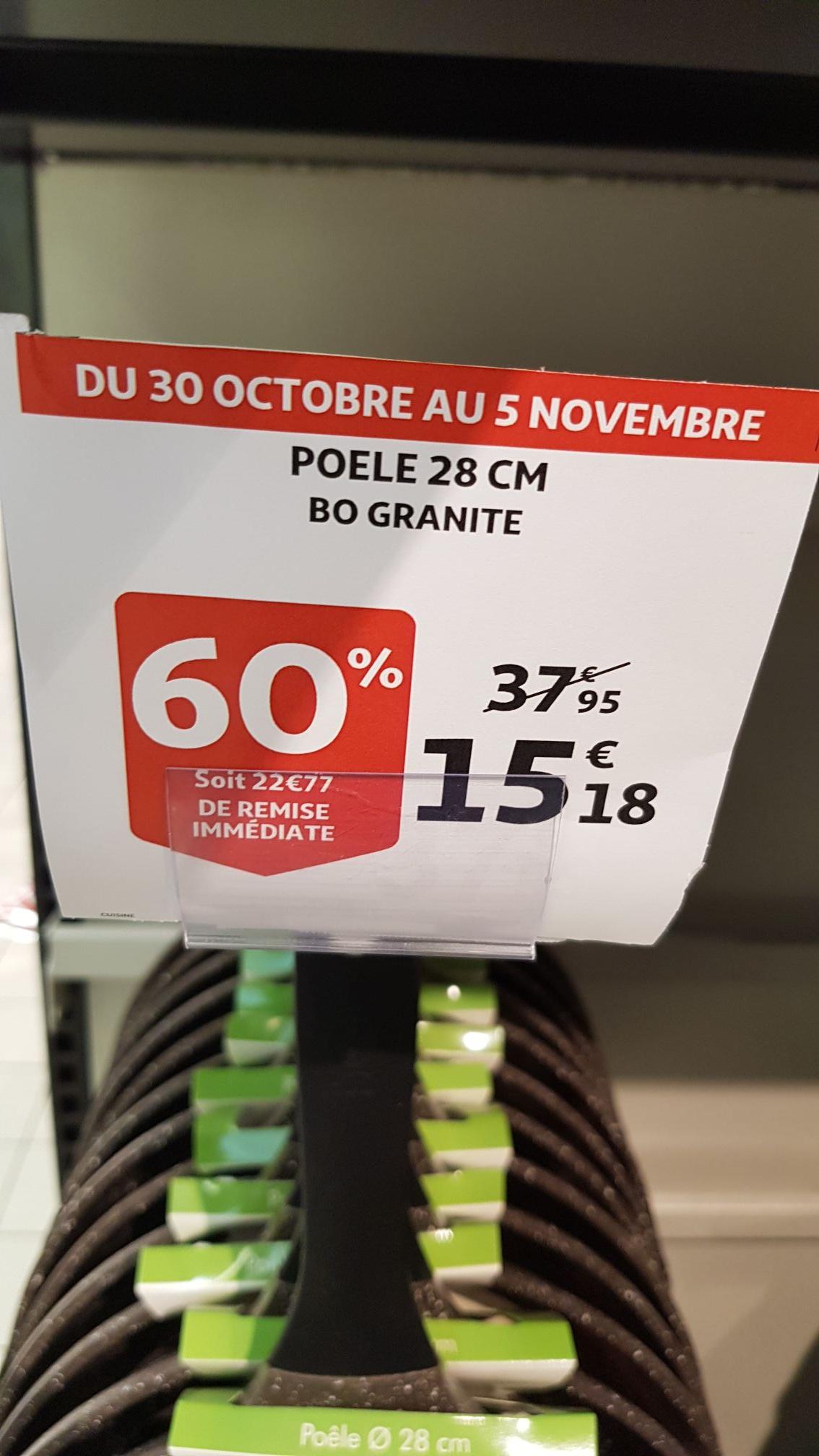 Poele/Faitout/sauteuse/crepiere BO Granite - Auchan Dardilly (69)