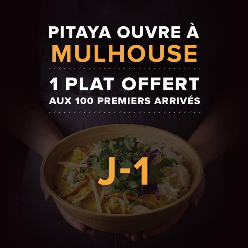Un plat offert aux 100 premiers arrivés le Mercredi 6 novembre - Restaurant Pitaya Mulhouse (68)