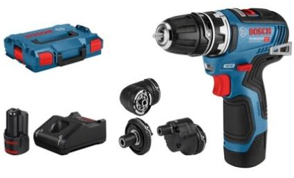 Perceuse-visseuse sans fil Bosch GSR 12V-35 FC - 12V, Batteries 2x 3,0 Ah