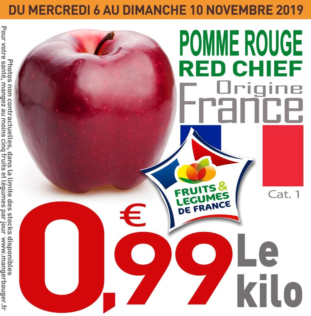 Pomme Rouge Red Chief (Origine France) - 1Kg