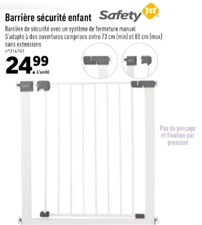 Barrière de sécurité enfant Safety First