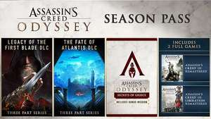Season Pass Assassin's Creed Odyssey: Inclus AC 3 Remastered + AC Liberation Remastered sur PS4 (Dématérialisé)