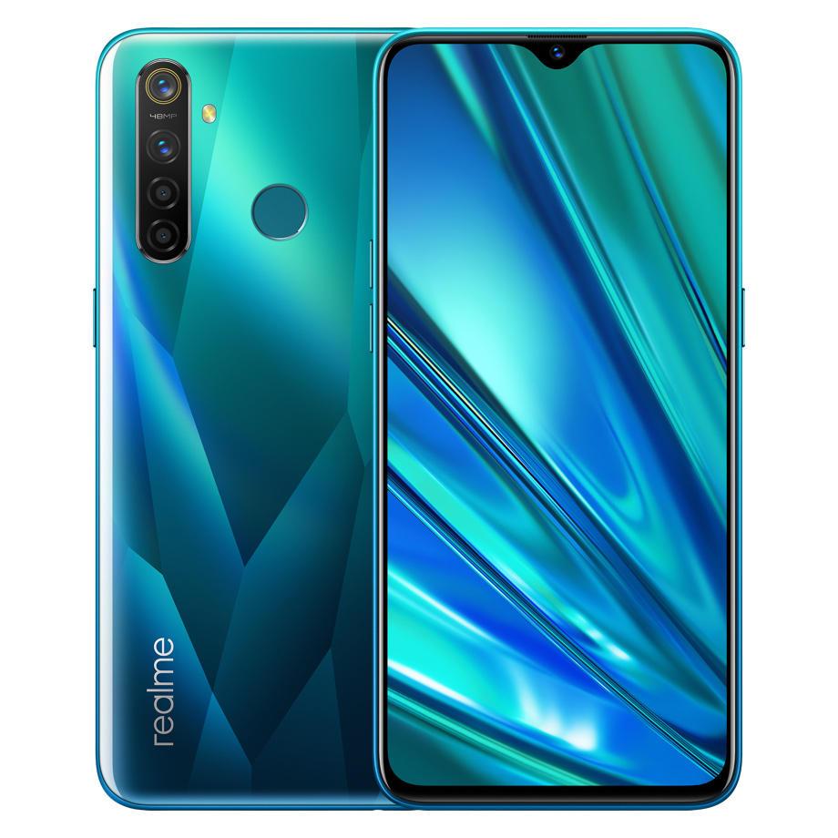 "Smartphone 6.3"" Realme 5 Pro (Global - B20/B28) - Full HD+, Snapdragon 712, RAM 4 Go, ROM 128 Go (Vert ou Bleu)"