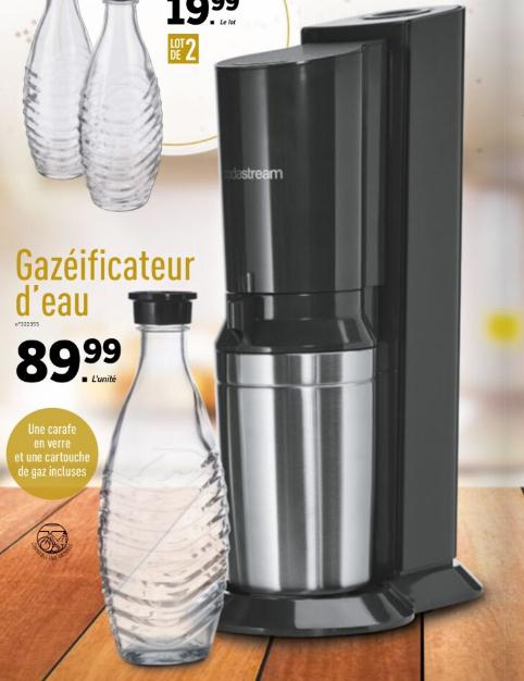 Gazéificateur d'eau Soda Stream Crystal (Via ODR 20€)