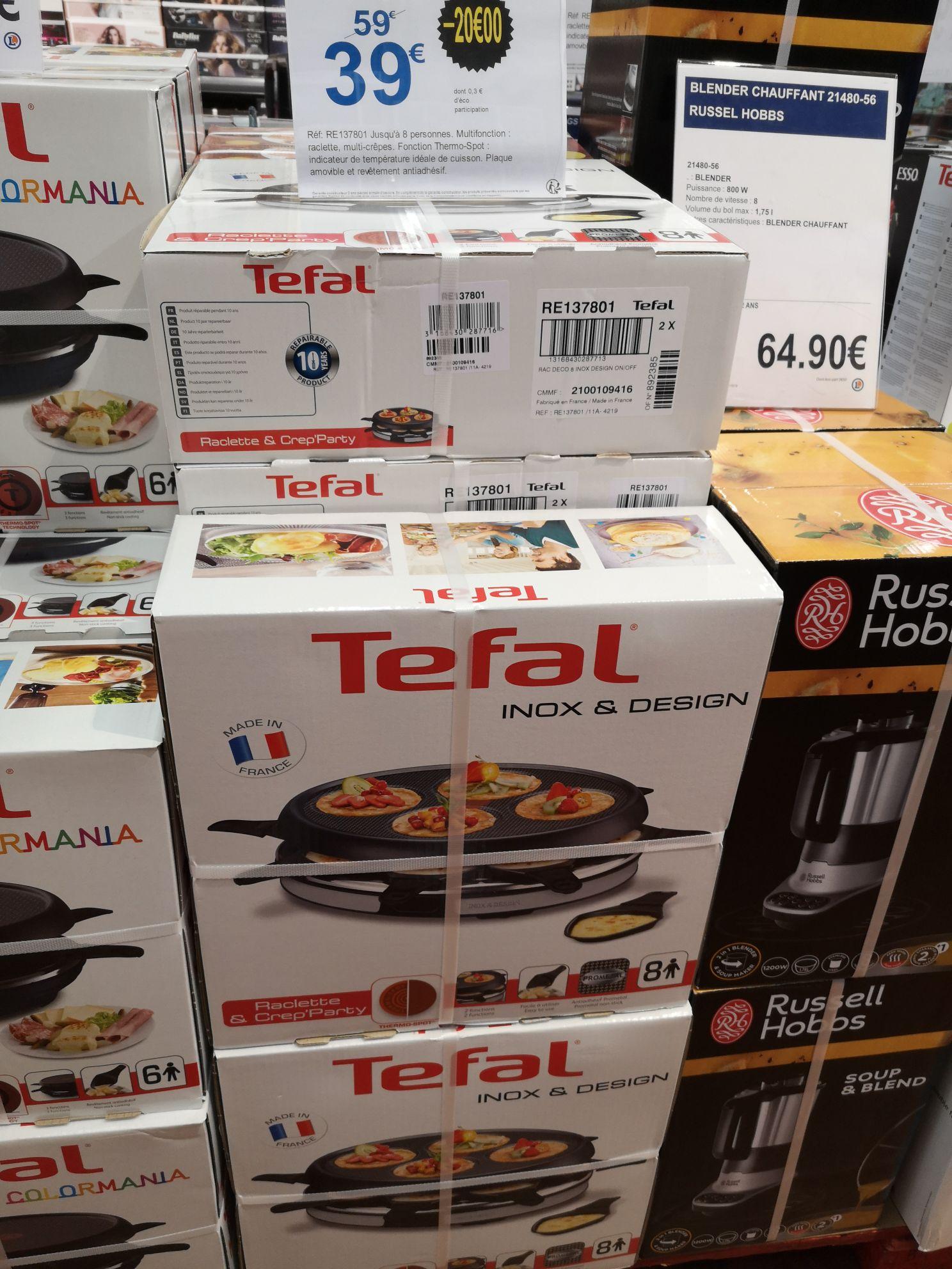 Raclette Crêpes Tefal Raclette et Crep'party (Colombes 92)