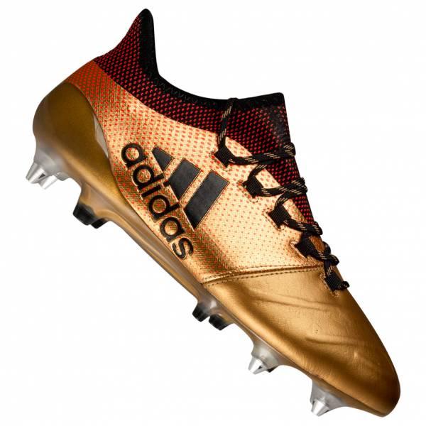Chaussures Adidas X 17.1 SG Cuir Football Gold