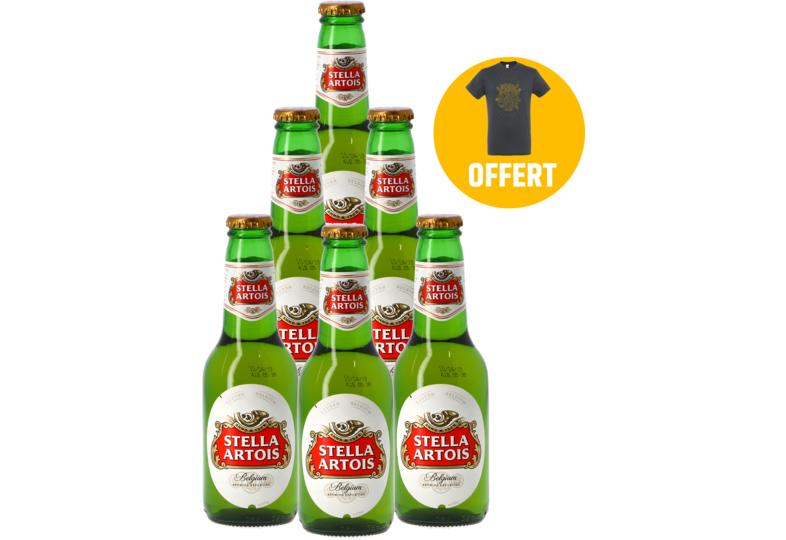 Pack de 6 Bières Stella Artois + 1 T-Shirt
