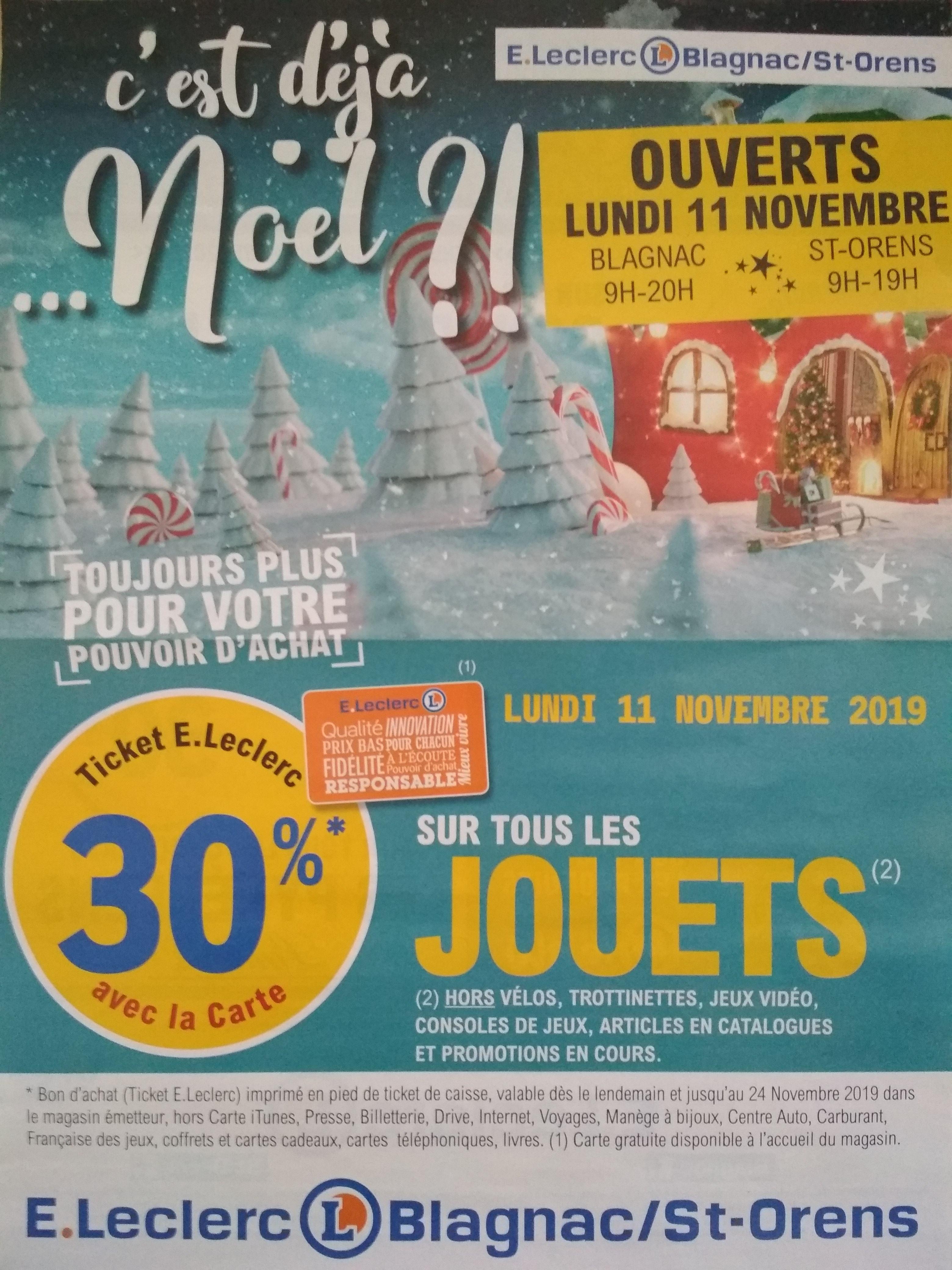 [Carte Fidélité] 30% remboursés en bon d'achat sur tout le rayon Jouet - Blagnac & Saint-Orens (31)