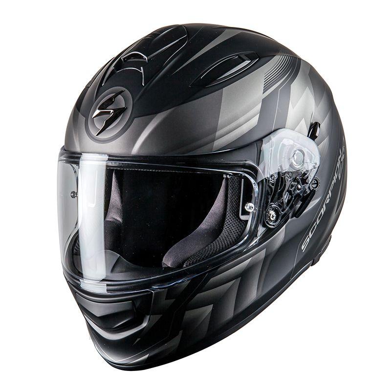 Casque moto Scorpion Exo 510 Air Scale - Noir / Argent, Taille S ou L
