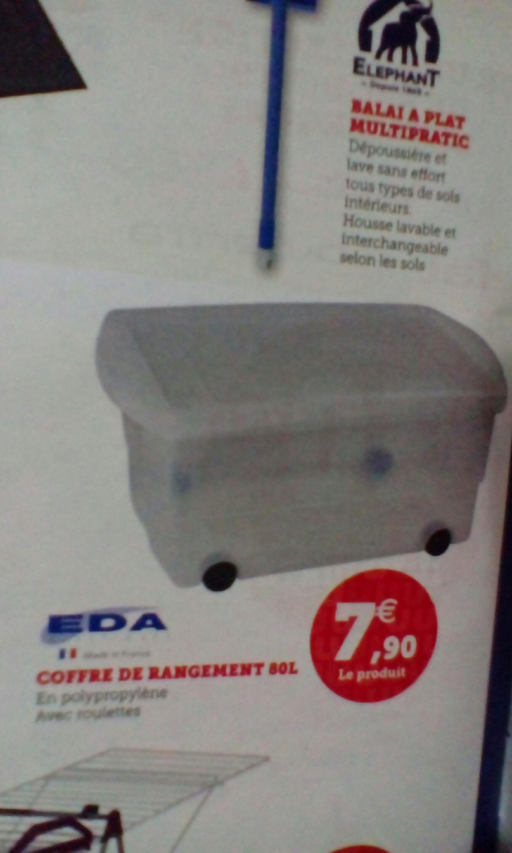 Coffre de rangement à roulettes Eda - 80 L
