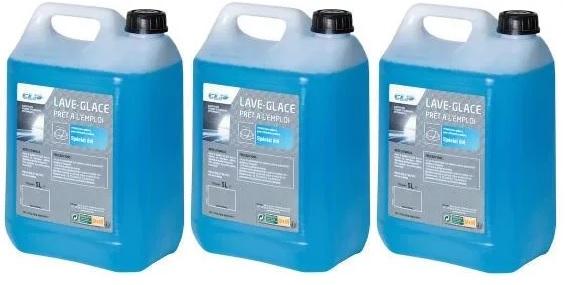 Lot de 3 Bidons de Lave Glace Hiver Parfumé (Protection jusqu'à - 10°C ) - 3x 5L
