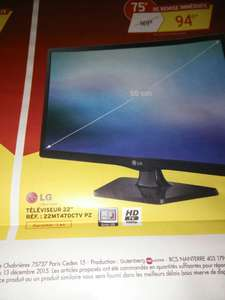 "TV 22"" LG 22MT47DCTV PZ 6 - LED, Full HD"