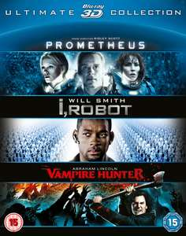 Coffret Blu-Ray 3D: Prometheus, I Robot, Abraham Lincoln
