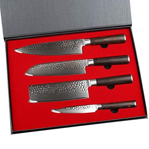 Malette de 4 couteaux de cuisine Yarenh - en acier japonais (vendeur tiers)