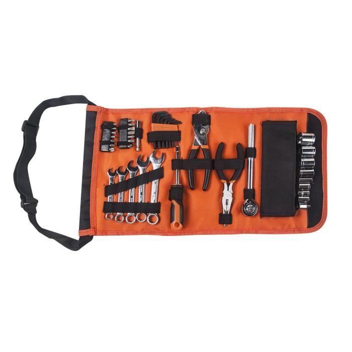 Set d'outillage Manupro - 41 accessoires (pinces, clé à cliquet, douilles, tournevis, clés hexagonales...)