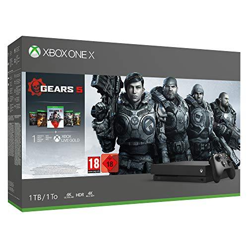 Console Microsoft Xbox One X (1 To) + Gears 5 Bundle + 14 jours Xbox Live