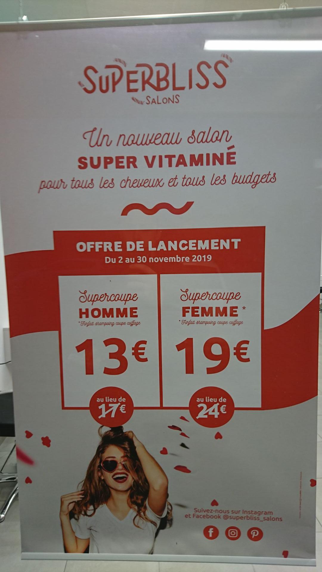 Forfait coupe de cheveux Homme + shampoing à 13€ - SuperBliss Hennebont (56)