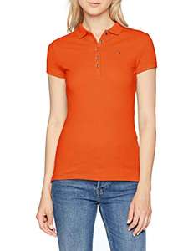 Polo Tommy Hilfiger New Chiara Orange pour Femmes - Taille L