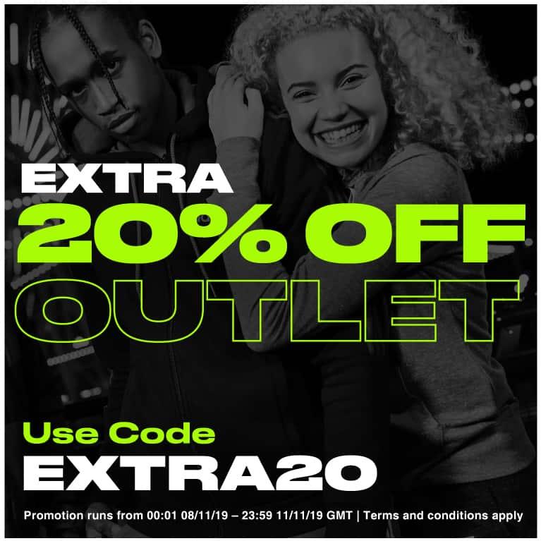 20% de réduction supplémentaire sur l'outlet