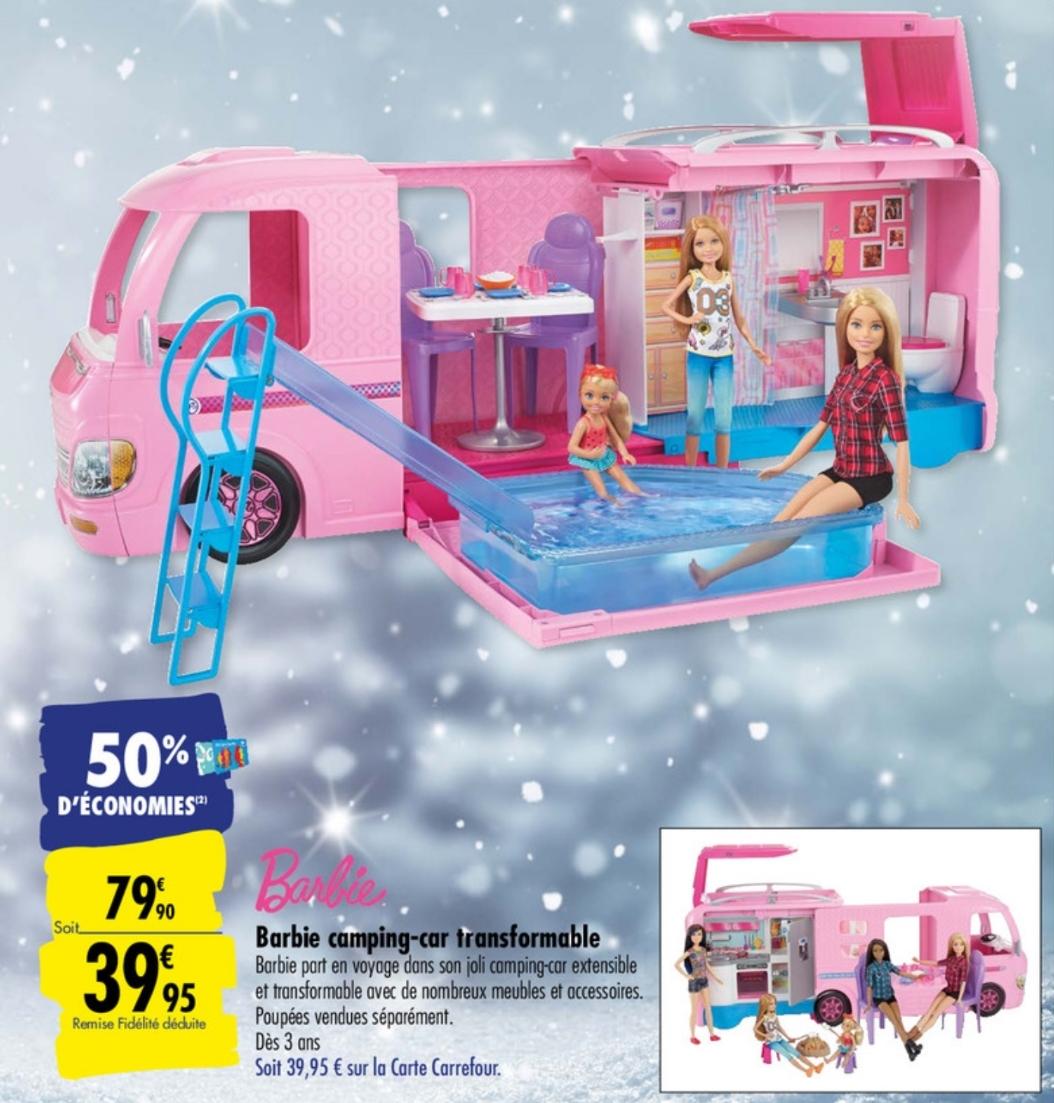 Camping-car transformable Barbie (Via 39.95€ sur la Carte Fidélité)