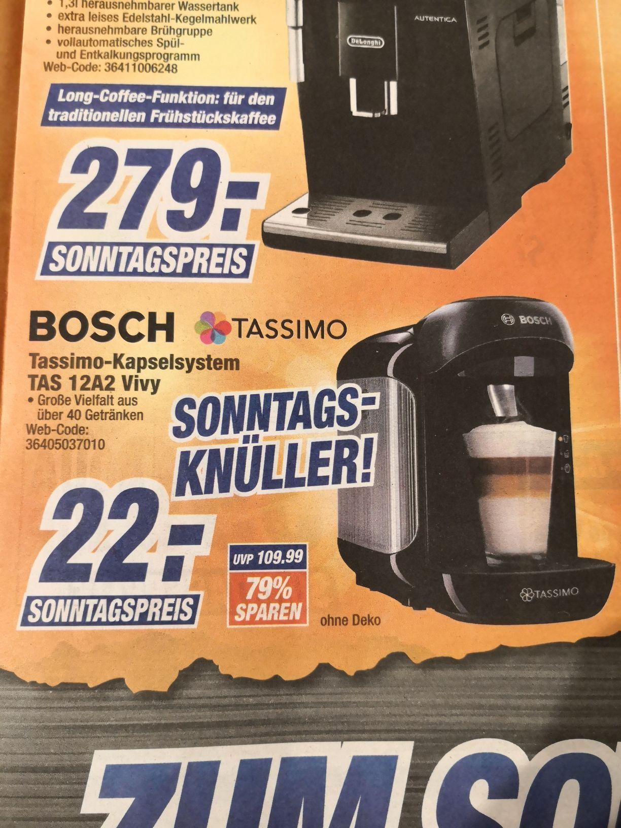 Machine à café Bosch Tassimo TAS12A2 - à Octomedia (Bühl - Frontaliers Allemagne)