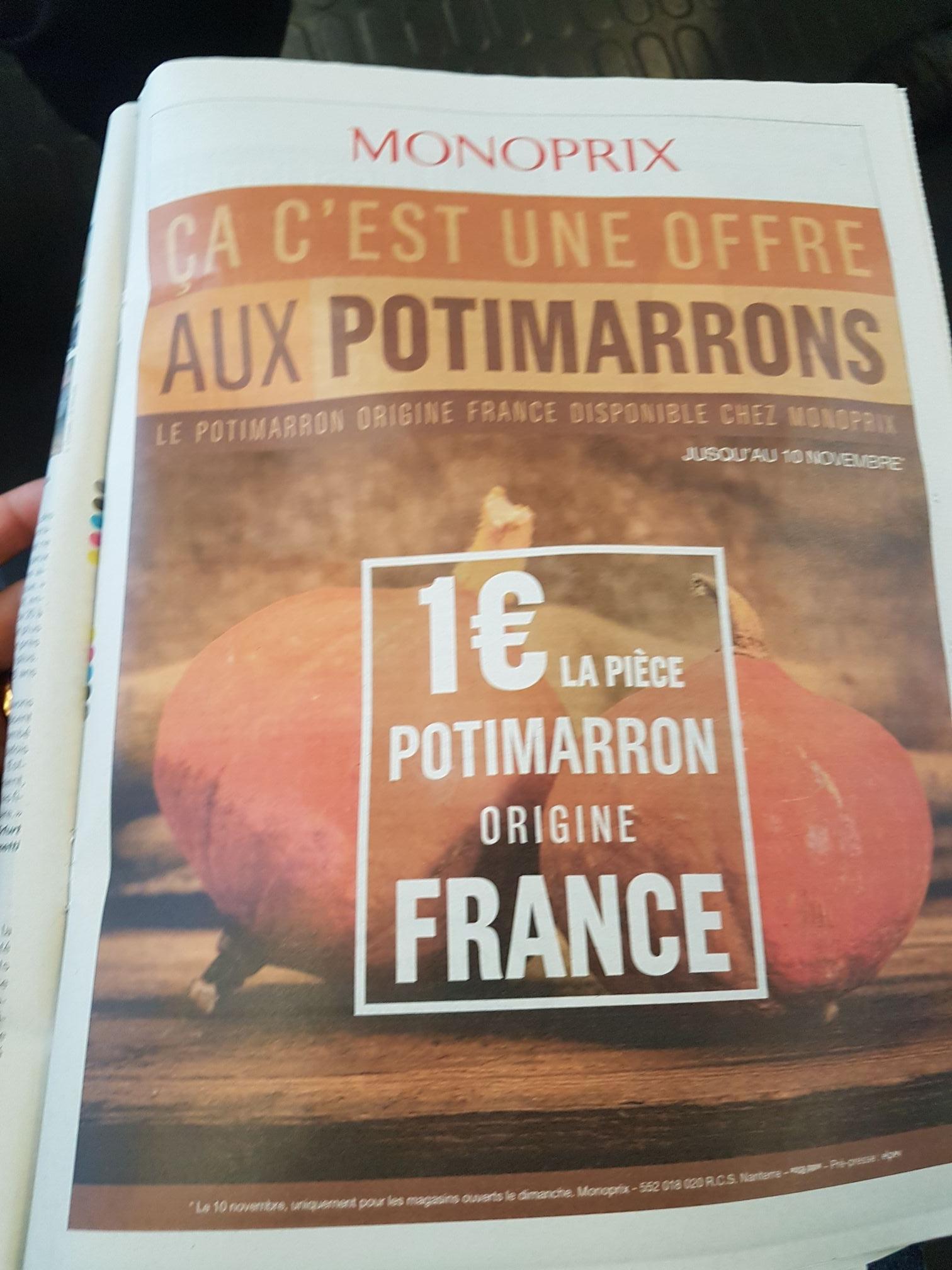 Potimarron - Origine France