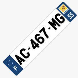 Plaque immatriculation plexiglas pour voiture