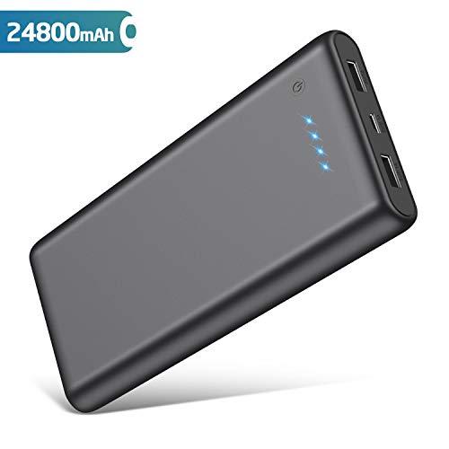 Batterie externe QTshine 24800mAh avec 2 charges rapides USB Sortie 2.1A (Vendeur tiers)