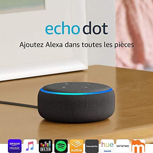Enceinte connectée Echo Dot (3ème génération), avec Alexa