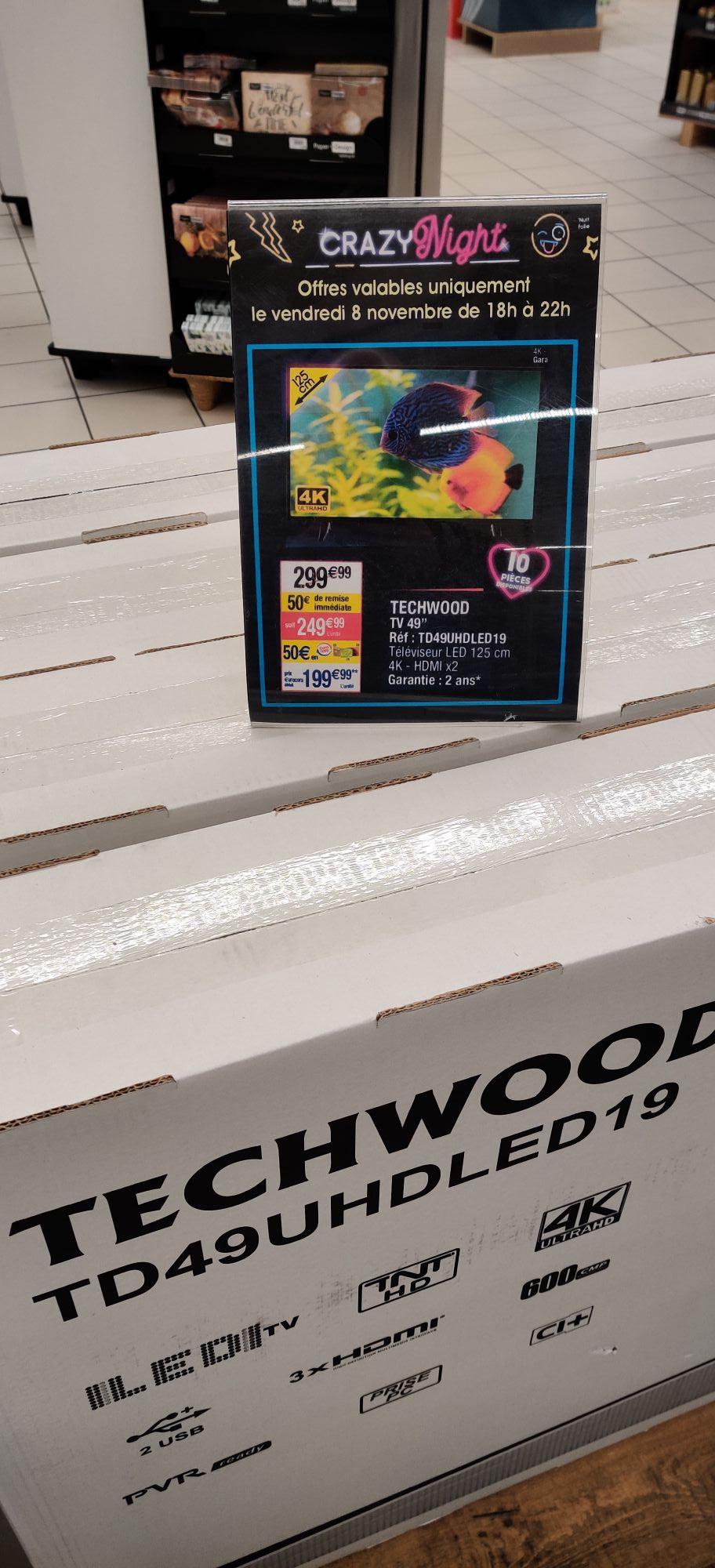 """TV 49"""" Techwood TD49UHDLED19 - UHD, LED - St-Avold (57)"""