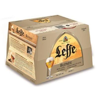 Lot de 3 Pack de bières blondes Leffe - 20x25cl (Via 10.02€ sur la carte de fidélité et 10€ en bon d'achat)