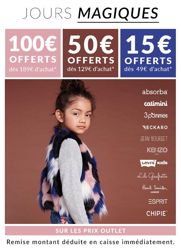 15€ de réduction dès 49€ d'achat, 50€ dès 129€ et 100€ dès 189€ d'achat - DestockCenter