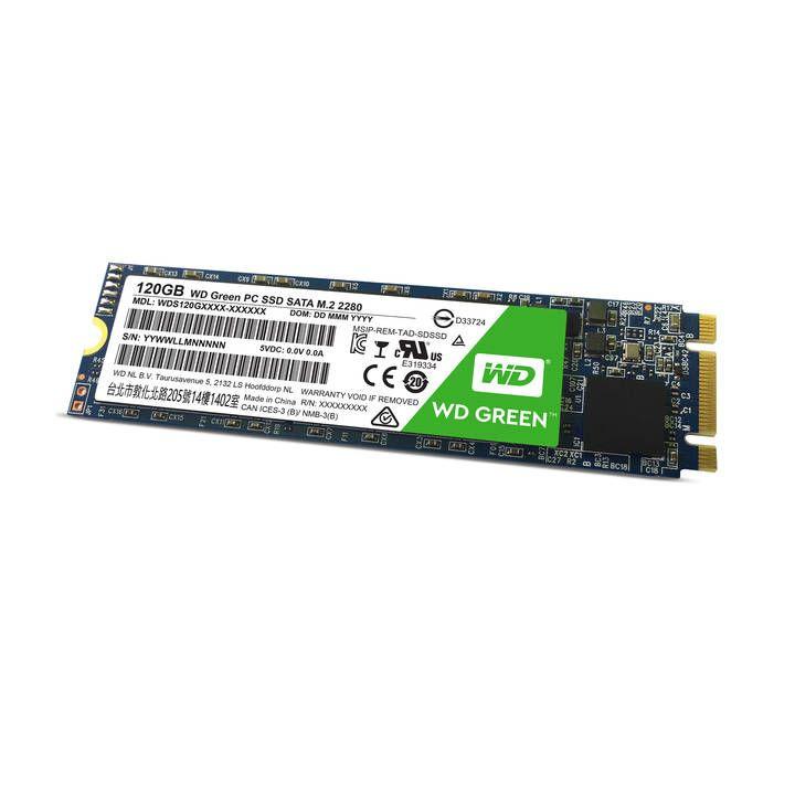 SSD interne M.2 SATA Western Digital WD Green - 120 Go (Frontaliers Suisse)