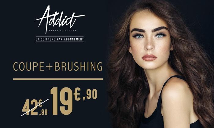 Shampoing, coupe et coiffage pour homme à 7€92 ou shampoing, coupe et coiffage pour femme à 15€92 - Addict Paris La Teste-de-Buch (33)