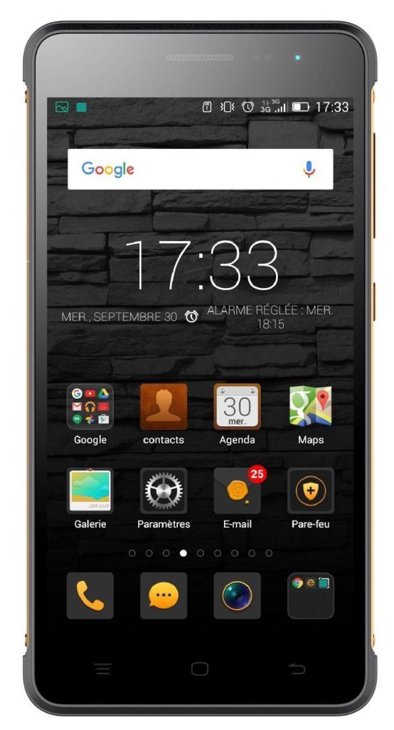 "Smartphone 5"" Hisense King Kong  G610 (smartphone renforcé)"