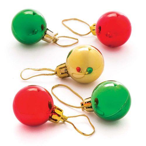 12 Mini boules de Noël - Diamètre : 3 cm (bakerross.fr)