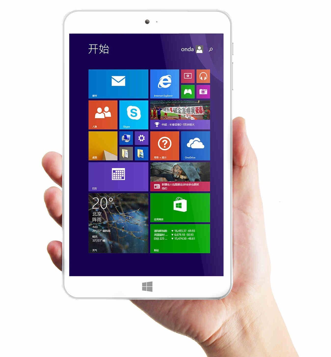 "Tablette 8"" Onda V820W - Ecran IPS, Quadcore, 2Go RAM, Dual Boot Win 8.1 / Android, 32Go"