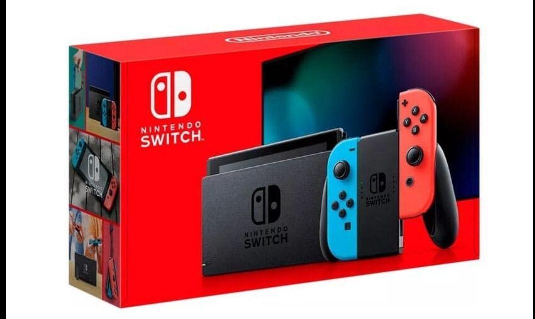 Console Nintendo Switch 2019 avec paire de Joy-Con Bleu/Rouge ou Gris (via 40€ en ticket Leclerc) - Fagnières (51)