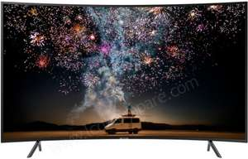 "TV 65"" Samsung UE65RU7305 - 4K UHD, HDR 10+, Incurvé, 1500 PQI, PurColor, Smart TV (Via ODR de 100€)"
