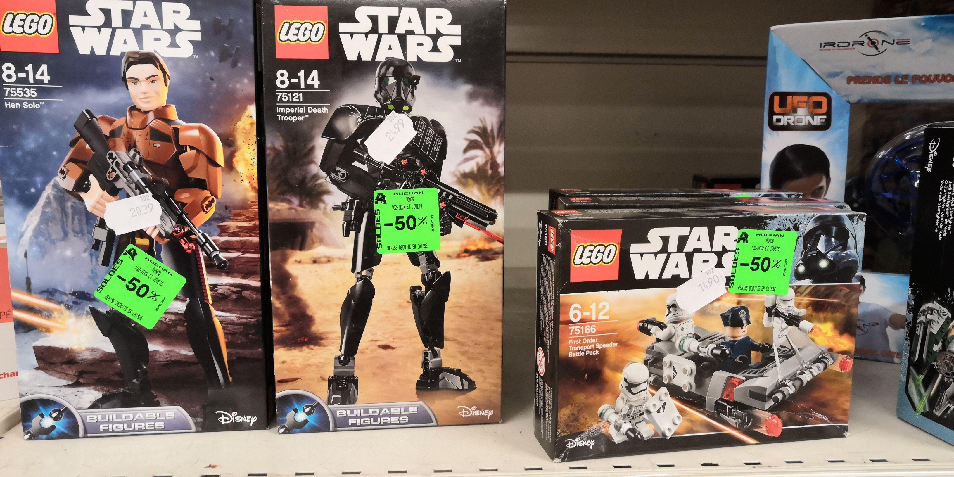 50% réduction sur une sélection de Lego Star Wars - Auchan Roncq (59)
