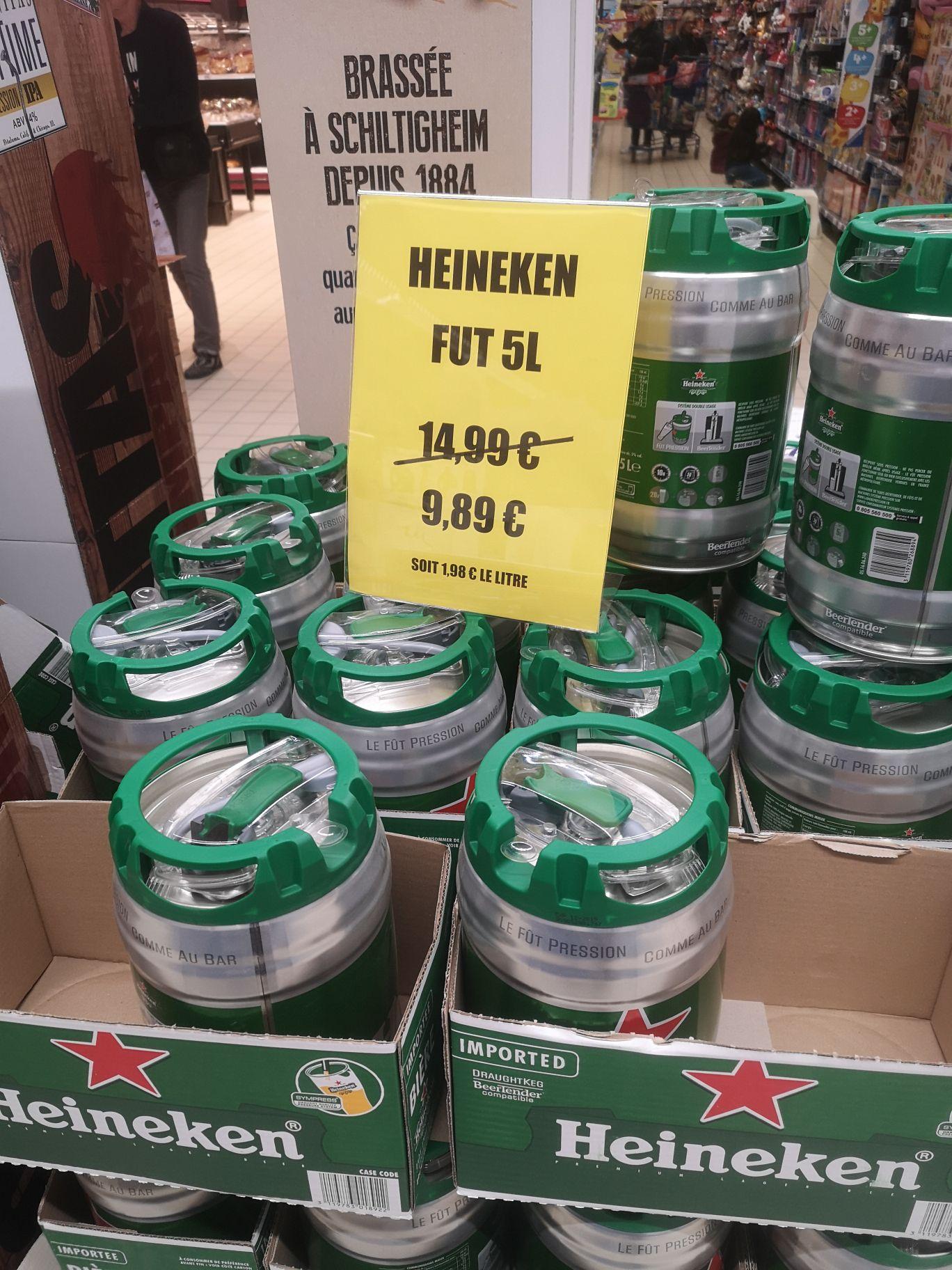 Fût de bière Heineken - 5 L (Leclerc Saint Aunes 34)
