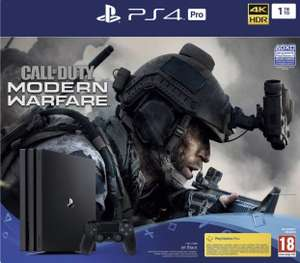 Console Sony PS4 Pro 1 To + Call Of Duty Modern Warfare - noir