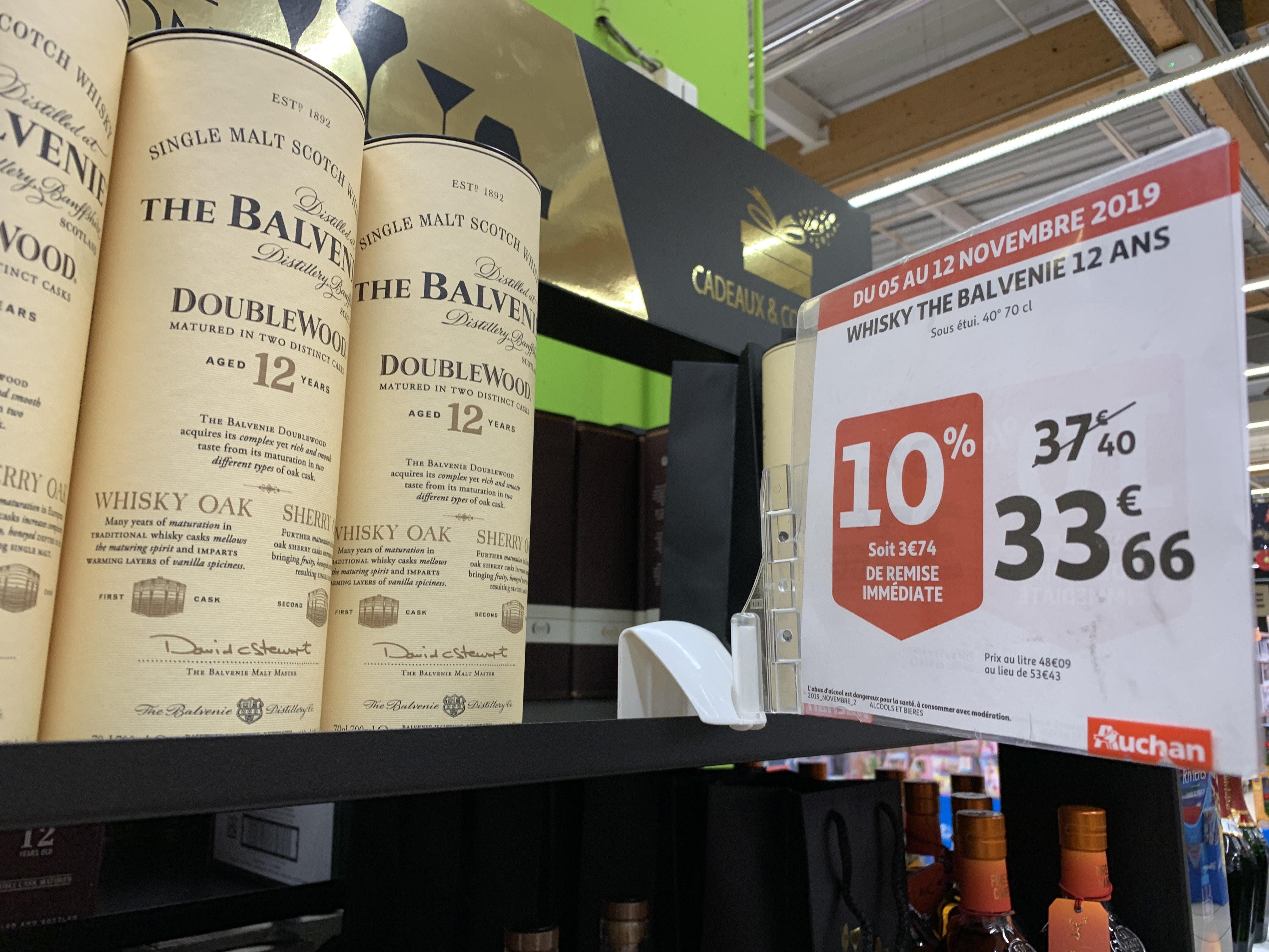Bouteille de Whisky Balvenie 12 ans DoubleWood