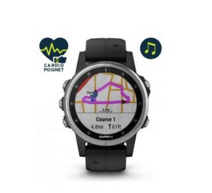 Montre GPS connectée Garmin Fenix 5s Plus Silver