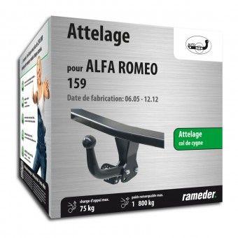 Attelage avec crochet démontable + outils pour Alfa Romeo 159 (rameder.fr)