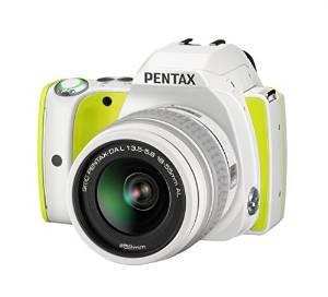 Appareil photo reflex numérique Pentax K-S1 Citron (20 Mpix) + Objectif DAL 18-55 mm + Fourre-tout blanc + Courroie Citron