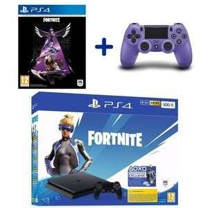 Console Sony PS4 (500 Go) + Bundle Fortnite + Manette Dualshock v2 Purple Electric