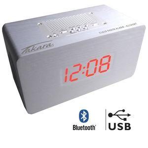 Radio réveil Takara KL100BTW - Bluetooth, Blanc